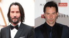 Keanu Reeves y otros famosos que cambian mucho sin barba
