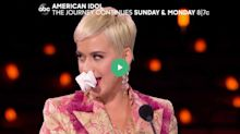 'No days off in Katy Perryland' as star sings through sniffles on 'American Idol'