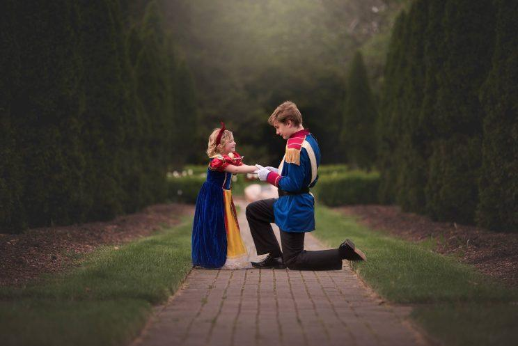 Brother Staged Prince Charming Photo Shoot For His