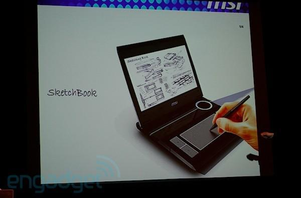 MSI shows off convertible 'SketchBook' laptop concept