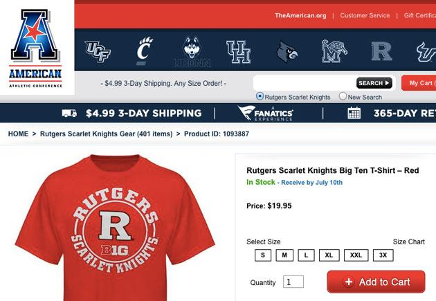 new arrivals 70f97 22be2 The American Athletic Conference website was selling Big Ten ...