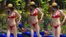 Dakota Johnson 'calienta' Miami con un minúsculo bikini rojo