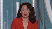 Sandra Oh gets real in the Golden Globes opening monologue: 'I wanted ... to witness this moment of change'
