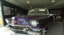 Checking out Elvis's Cadillac collection