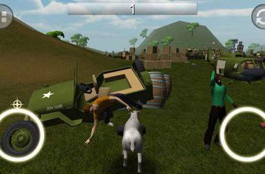 You can't play Goat Simulator on Mac (yet), but you can play Goat Rampage on iOS