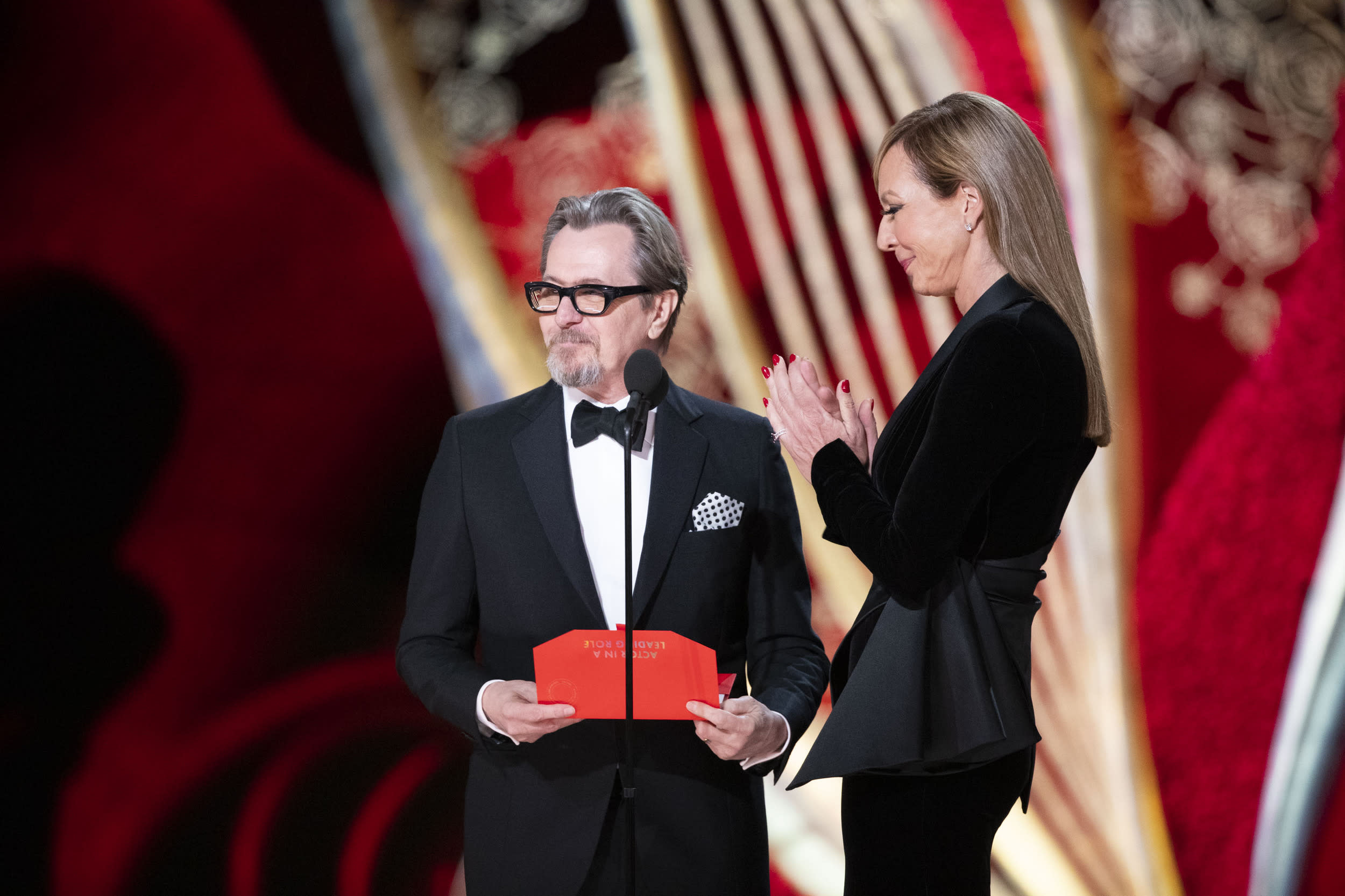 THE OSCARS® - The 91st Oscars® broadcasts live on Sunday, Feb. 24, 2019, at the Dolby Theatre® at Hollywood & Highland Center® in Hollywood and will be televised live on The ABC Television Network at 8:00 p.m. EST/5:00 p.m. PST.  (Craig Sjodin via Getty Images) GARY OLDMAN, ALLISON JANNEY
