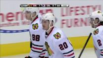 Brandon Saad bats it in on the backhand