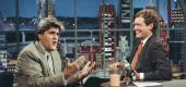 Jay Leno and David Letterman. (Getty Images)