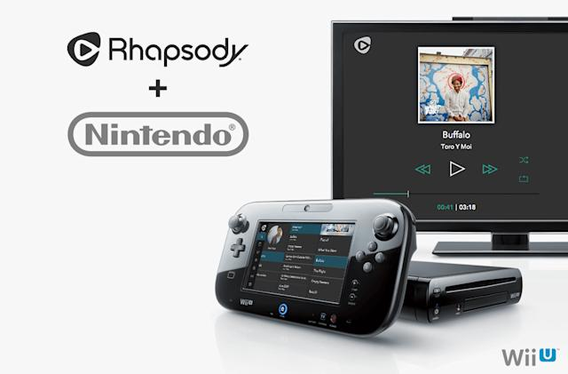 Rhapsody's music-streaming service comes to the Wii U