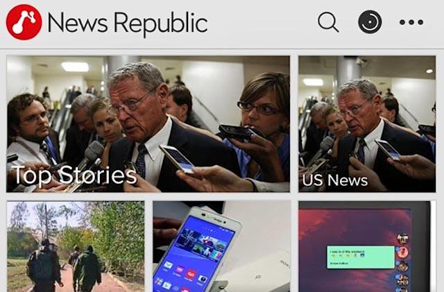 News Republic challenging established iOS news apps