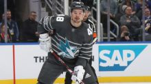 Sharks' forward Tomas Hertl resumes on-ice workouts