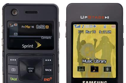 Sprint announces Samsung UpStage, 99 cent songs over the air