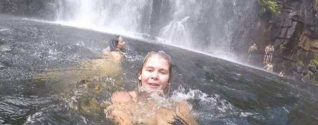 Woman accidentally films tragic moment man drowns behind her
