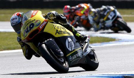 Paginas Amarillas HP Moto2 rider Rins of Spain rides on his way to winning the Australian Grand Prix on Phillip Island
