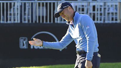 2b8d4f2288952 Cold putter costs JT shot at 10th PGA Tour victory