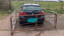 Farmer's 'impressive' act after BMW driver's annoying park