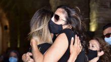 El profundo dolor de Paz Padilla en el último adiós a su marido