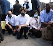 Justin Trudeau took the knee 3 times at an anti-racism protest, but he's being called on to do more to address Canada's racism and indigenous deaths