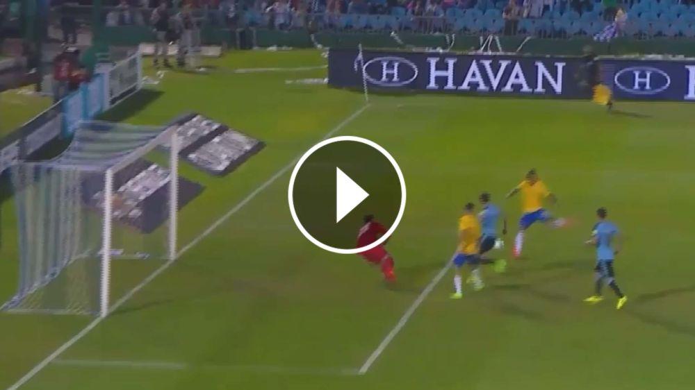 VIDEO: ¡Otra vez! Paulinho puso el 2-1 ante Uruguay