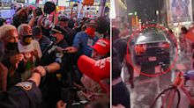 Car ploughs into Black Lives Matter protesters at Times Square