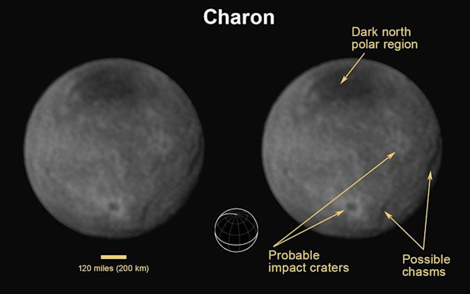 Here's your closest look yet at Pluto's largest moon, Charon