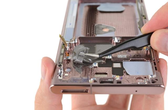 Galaxy Note 20 teardown finds graphite cooling in some phones