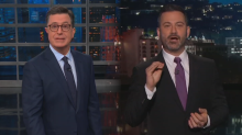 Colbert and Kimmel call for Sanders to be fired over doctored video