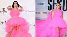 Kendall Jenner wears H&M version of J Lo's massive Giambattista Valli gown