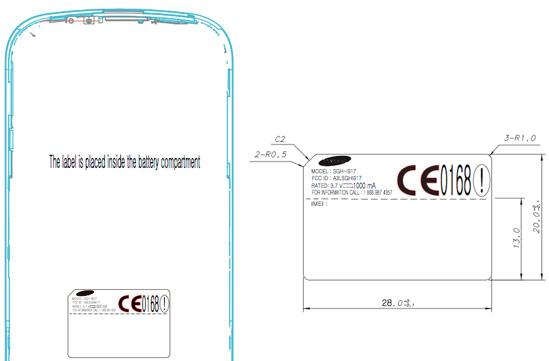 Samsung's Cetus SGH-i917 sashays into FCC database, winks seductively at AT&T