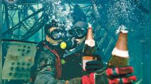 """The Rescue"" celebrates wrapping up with underwater champagne"