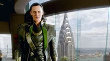 Here's a delightful video of Tom Hiddleston falling on his face during Lokiprep
