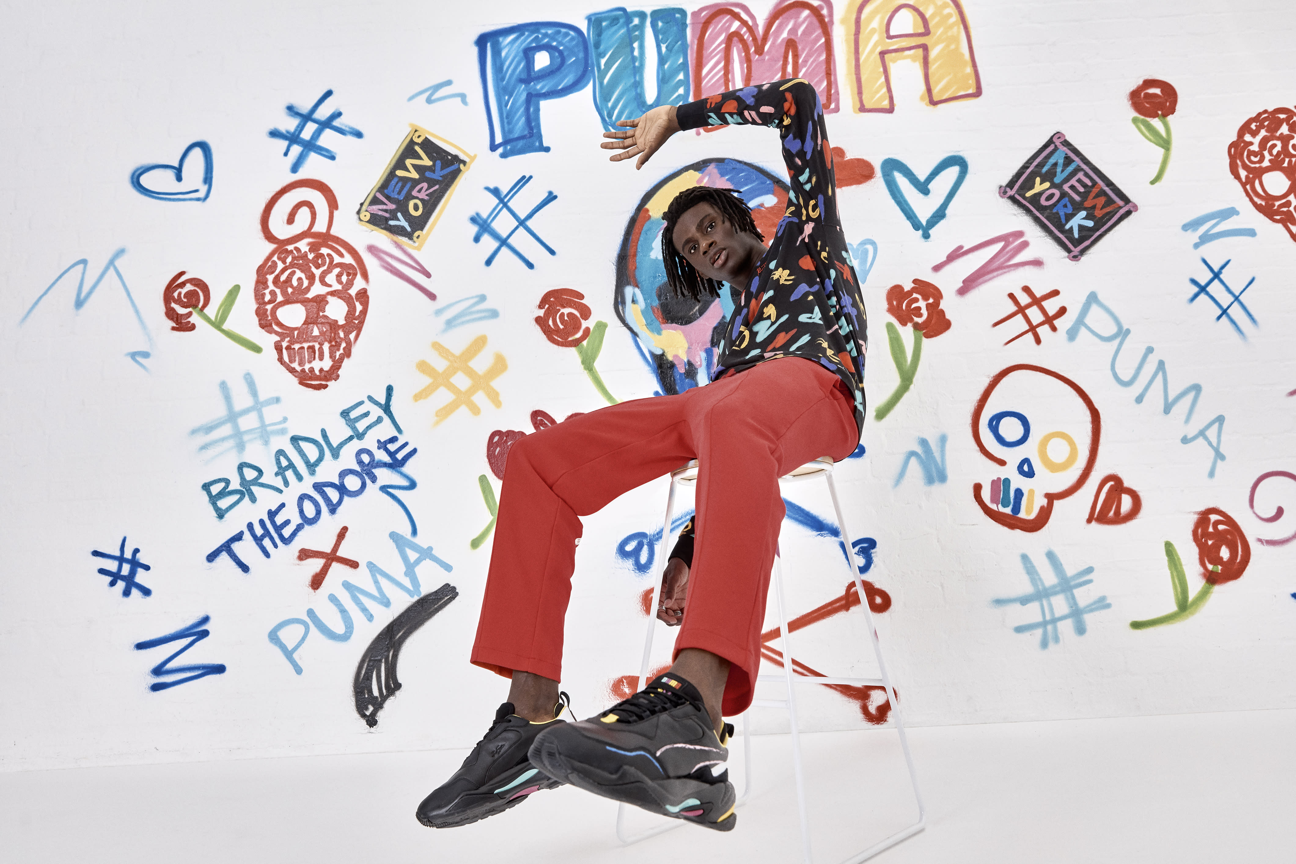 6e95eca0b40 Puma x Bradley Theodore s new colourful collection is a visual feast for  the eyes