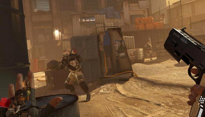 Gunfight in 'Half-Life: Alyx'