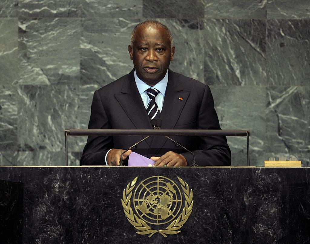 Former Ivory Coast President Laurent Gbagbo, pictured 2009, is the first-ever head of state to be handed over to the ICC and has been on trial since 2016 for his role in fomenting post-electoral violence in the west African nation (AFP Photo/EMMANUEL DUNAND)