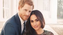 Meghan Markle casually wears couture ballgown for official engagement photo with Prince Harry