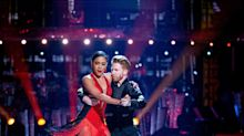 Strictly's Alex Scott Suffers Major Wardrobe Malfunction After Getting Stuck To Partner Neil Jones During Argentine Tango Routine