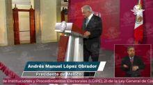 "Asegura AMLO que se llegó a meta de ""cachitos"" vendidos para rifa y premios de avión presidencial"