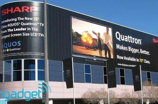 Sharp and Samsung's CES posters preview Smart TV apps, 70-inch Quattron LCD