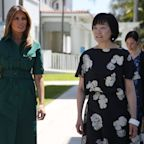 Melania Trump is wearing another beloved belted shirtdress