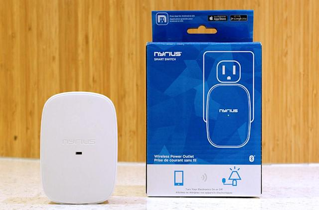 A Bluetooth 'smart outlet' is cheap and simple, but also limited