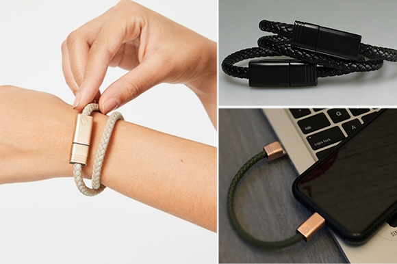 """Photo of High-speed charging cable """" NILS 2.0 '' that is hard to get tangled in the bag and can be wrapped around the arm"""