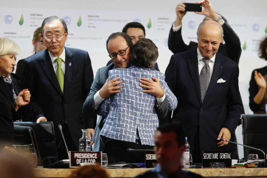 Euphoria as landmark Paris climate deal adopted