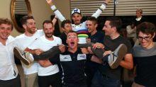 Cyclisme - Mondiaux (H) - Alaphilippe : «Ce maillot, je l'ai gardé à table avec moi pour que tout le monde en profite»