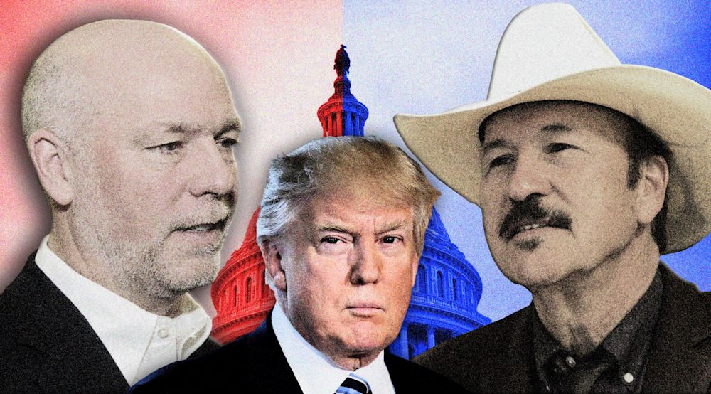 Montana congressional candidates, Republican Greg Gianforte and Democrat Rob Quist. (Photo illustration: Yahoo News; photos: Bobby Calvan/AP, Matthew Brown/AP)
