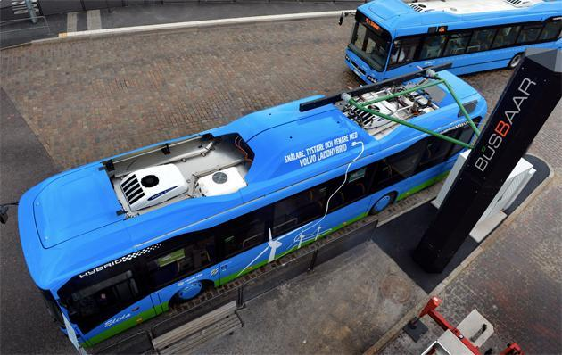 Volvo building an electric roadway to wirelessly charge buses