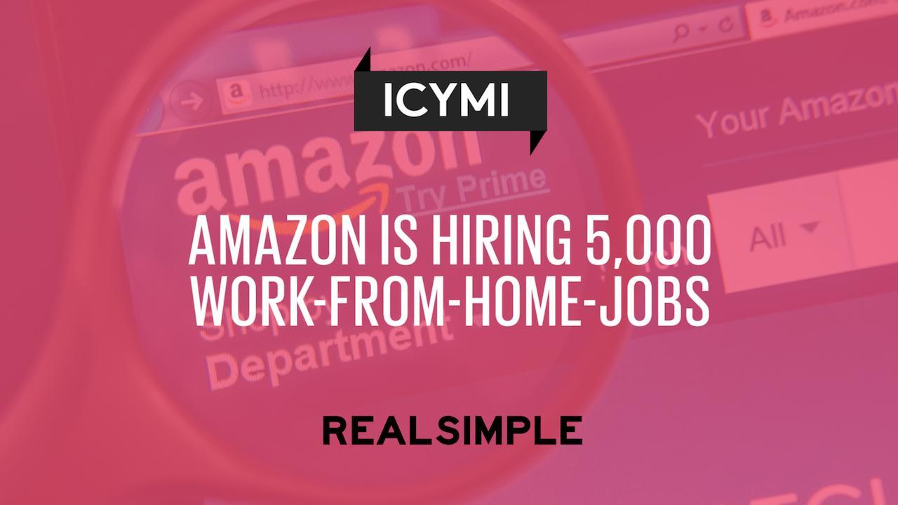 amazon work from home jobs ohio amazon is hiring 5 000 work from home jobs video 6760