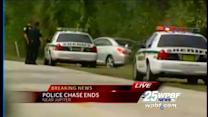 Man in custody after high-speed chase ends in Jupiter