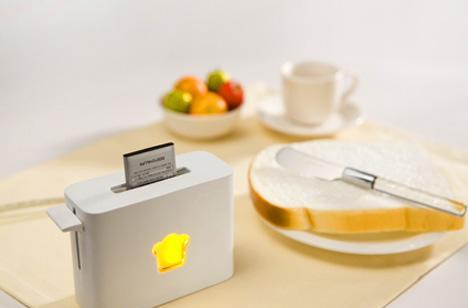 Toasting Charger: for batteries, not bagels