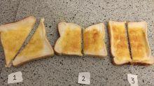 Twitter debate erupts over how to cut toast
