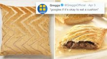 Cushion or pasty? Greggs trolls Next for selling 'steak bake' cushions